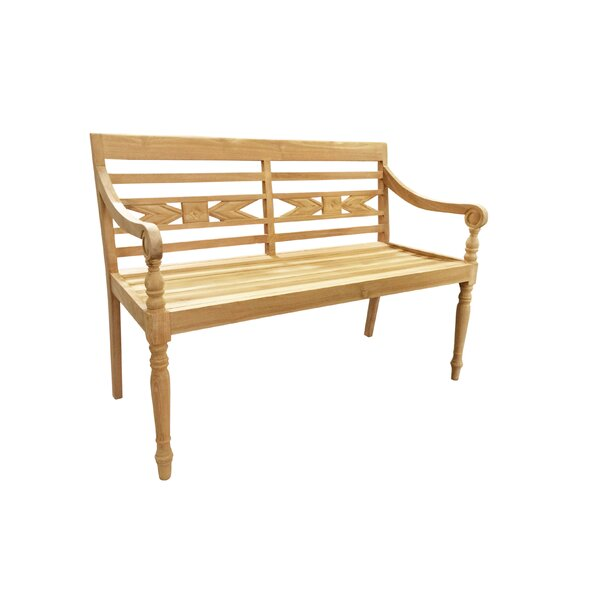 Alwari Teak Garden Bench by D-Art Collection