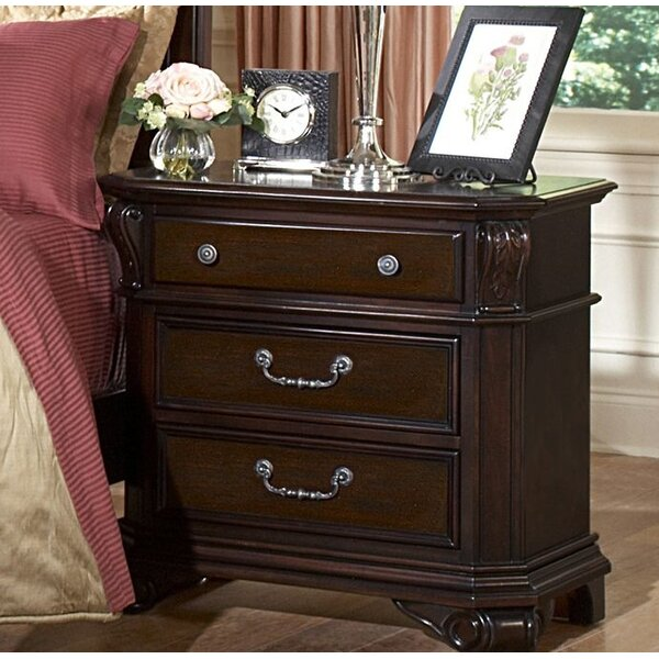 Raftery 3 Drawer Nightstand by Astoria Grand