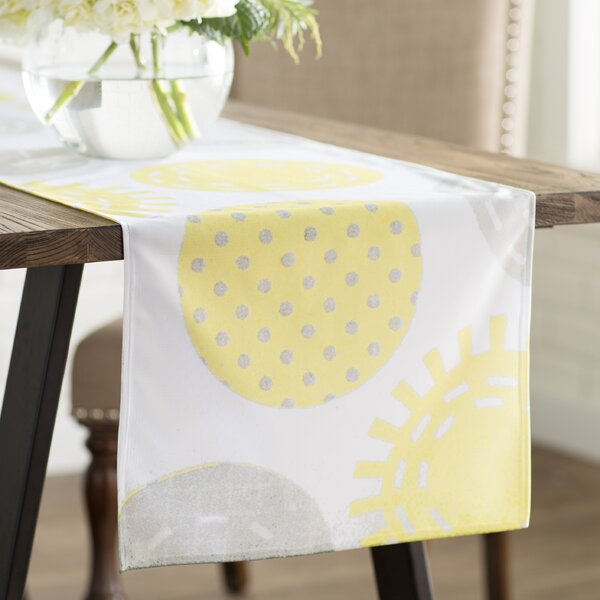 Heidi Jennings Sunspot Spots Table Runner by East Urban Home