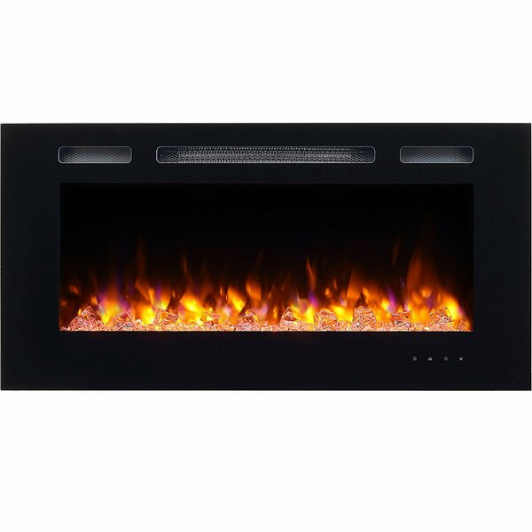 Iserman Wall Mounted Electric Fireplace by Orren Ellis Orren Ellis