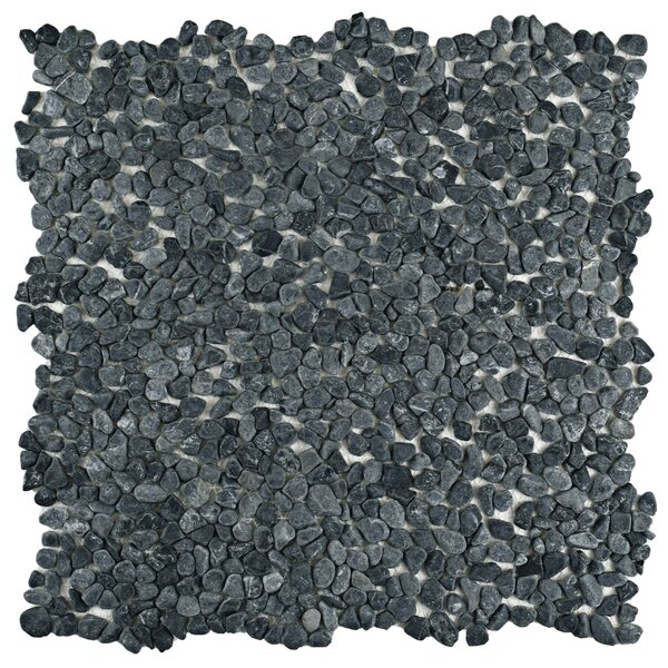 Kamyk 12.25 x 12.25 Pebble Stone Mosaic Tile in Gray by EliteTile