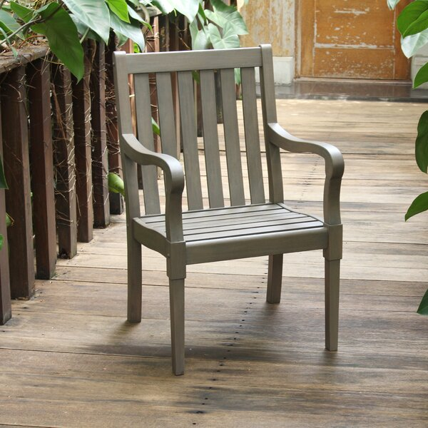 Windell Solid Wood Patio Dining Chair (Set of 2) by Highland Dunes
