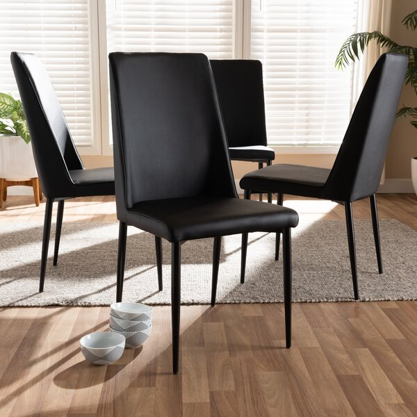 Schutzer Upholstered Dining Chair (Set of 4) by Orren Ellis