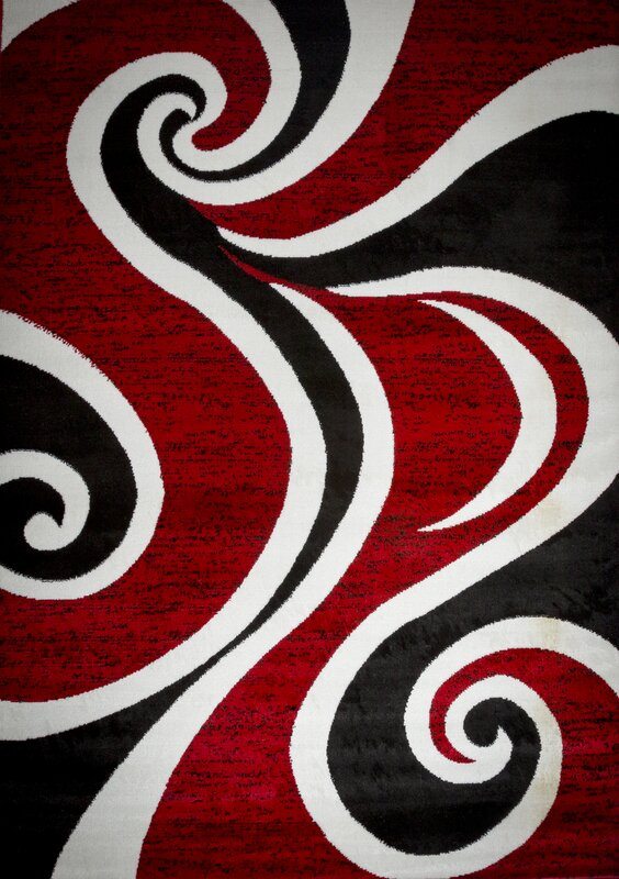 Mckenzie Red/Black/White Area Rug