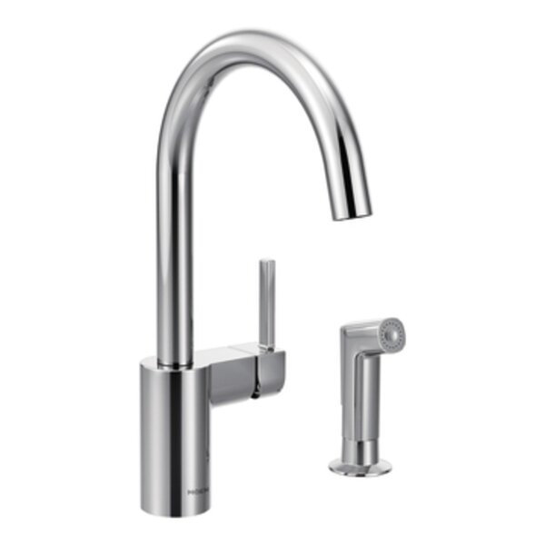 Align Single Handle Kitchen Faucet with Side Spray by Moen