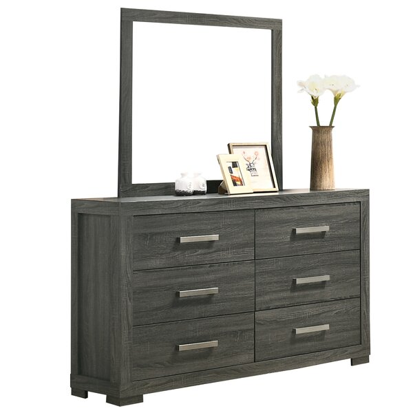 Nar Mirror 5 Drawer Dresser by Ebern Designs