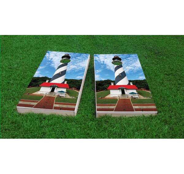 St. Augustine Lighthouse Light Weight Cornhole Game Set by Custom Cornhole Boards