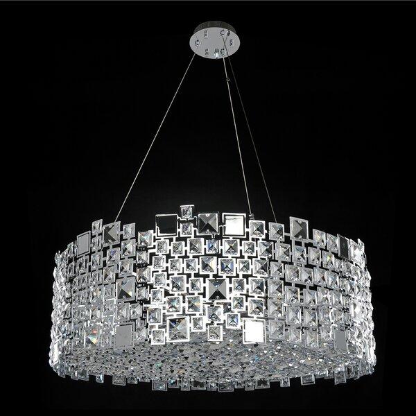 Mozingo 12-Light Unique / Statement Drum Chandelier By Mercer41