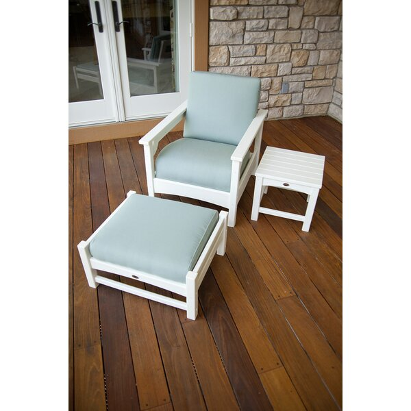 Club 3-Piece Deep Seating Set Patio Chair with Cushions by POLYWOOD®