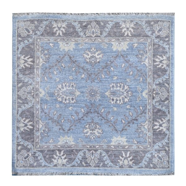 Hand-Knotted Blue/Beige Area Rug by Wildon Home ®