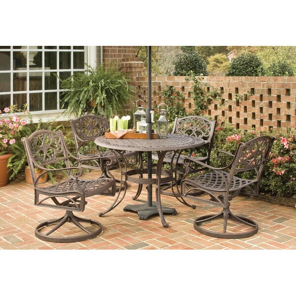 Ayleen 5 Piece Outdoor Dining Set by August Grove