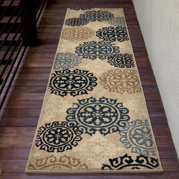 Falmouth Green/Cream Area Rug by Charlton Home