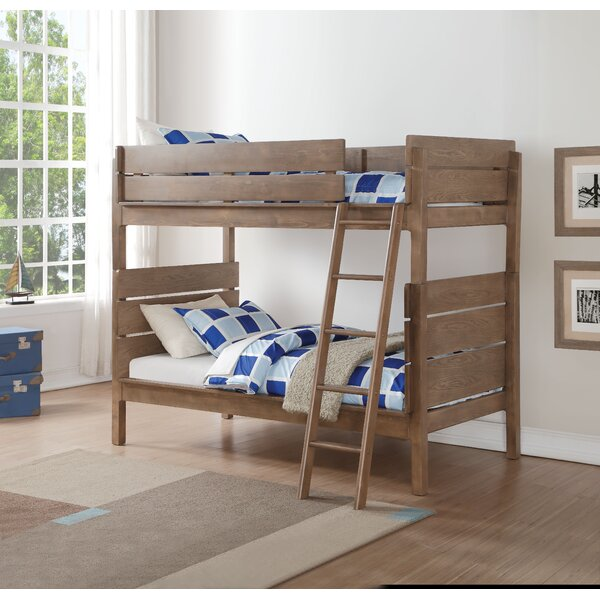 Knudson Twin Over Twin Bunk Bed by Harriet Bee