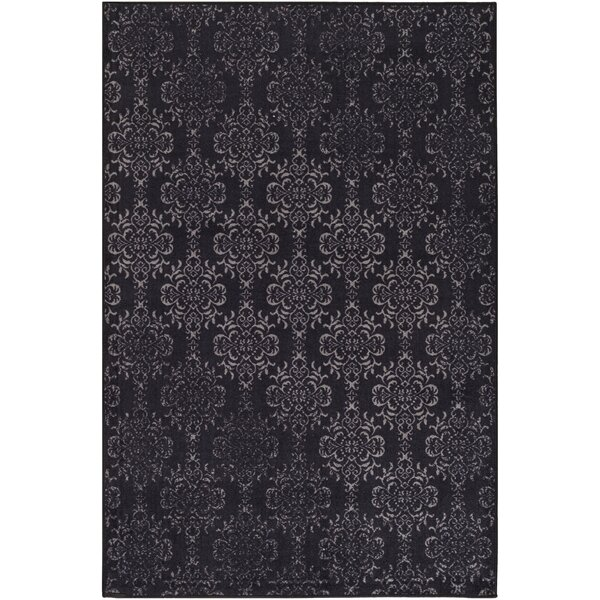 Huntingdon Black/Gray Area Rug by Gracie Oaks