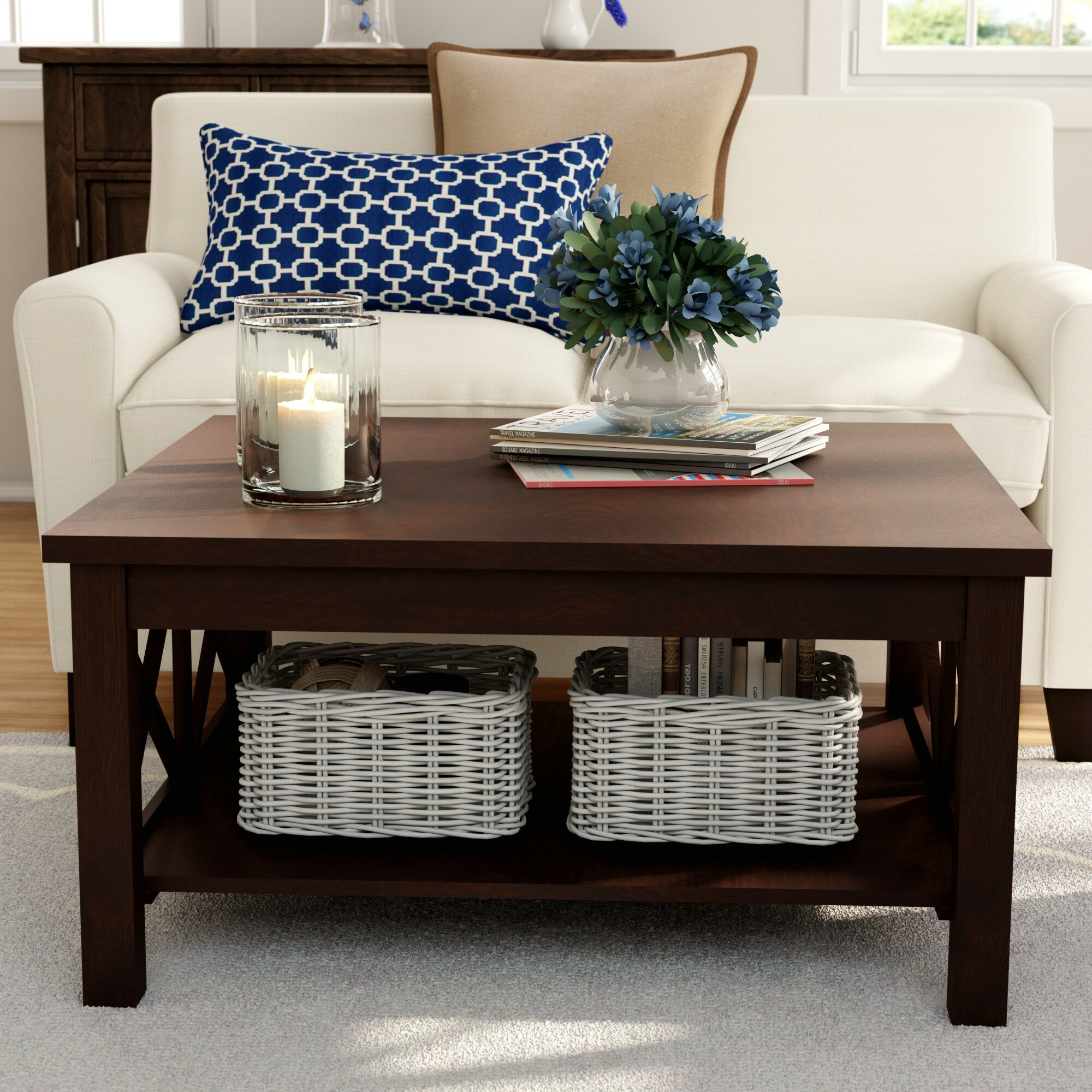 Breakwater Bay Enfield Coffee Table With Storage Reviews Wayfair