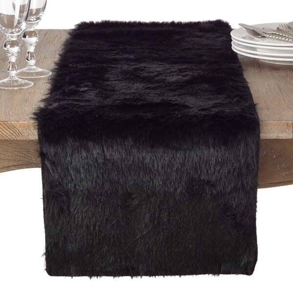 Branchville Glam Faux Fur Topper Table Runner by Greyleigh