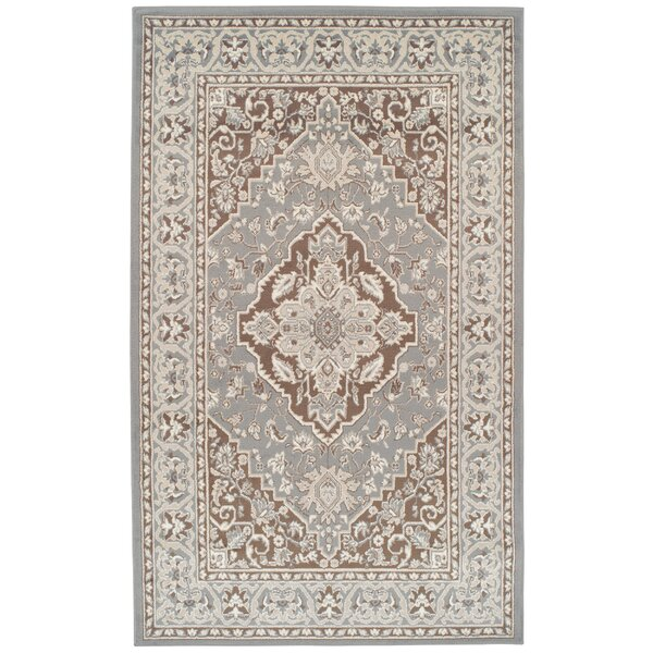 Vassar Gray/Brown Area Rug by Astoria Grand