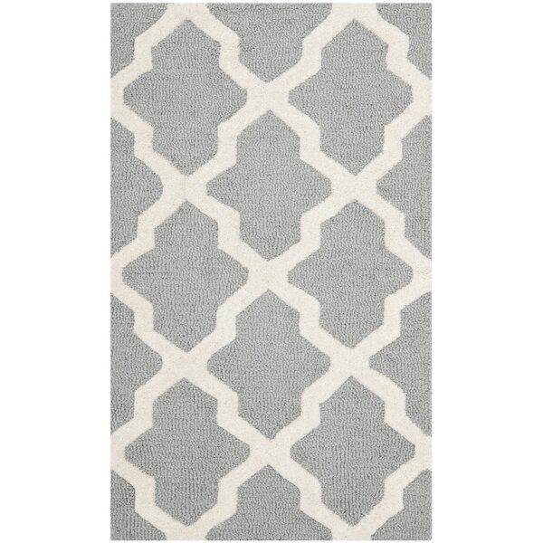 Charlenne Silver/Ivory Area Rug by Zipcode Design