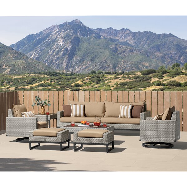 Parson Motion 8 Piece Sofa Seating Group With Cushions By Latitude Run