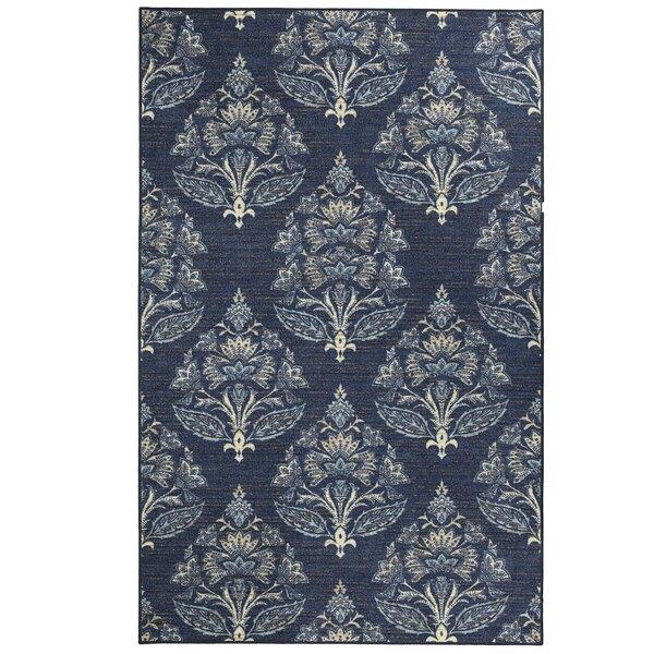 Garnett Blue Area Rug by Ophelia & Co.