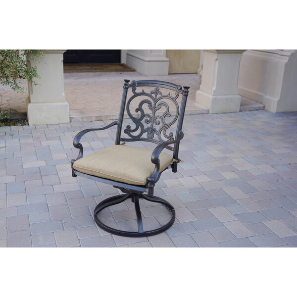 Batista Swivel Patio Rocking Chair with Cushions (Set of 4) by Fleur De Lis Living