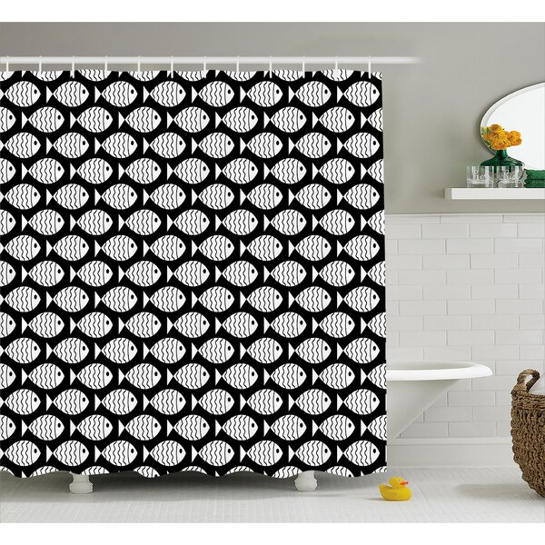 Stephnie Marine Creatures Sea Shower Curtain by Longshore Tides