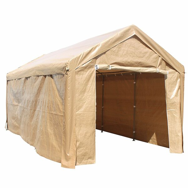 Heavy Duty Outdoor 10 Ft. W x 20 Ft. D Metal Party Tent by ALEKO