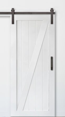 Z Sliding MDF Panel Wood Slab Interior Barn Door by Artisan Hardware