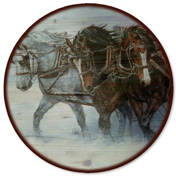 Winter Wind Horses Lazy Susan by WGI-GALLERY