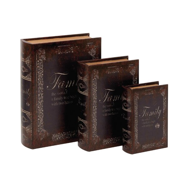 3 Piece Wood Book Box Set by Cole & Grey