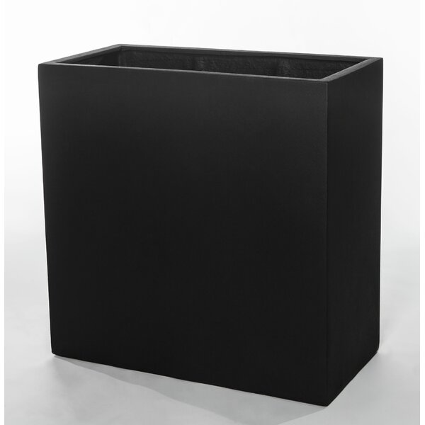 Rieth MLN Rect 2828 Fiberglass Clay Composite Window Box Planter by Brayden Studio