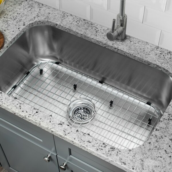 23 L x 18 W Undermount Kitchen Sink with Sink Grid and Drain Assembly