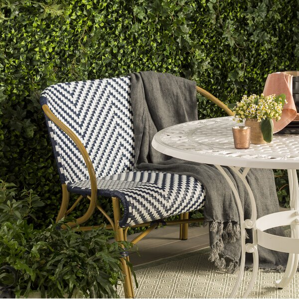 Blewitt Herringbone Garden Bench by Bungalow Rose Bungalow Rose