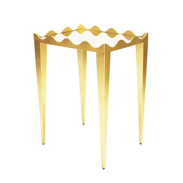 Wave Edge End Table by Worlds Away