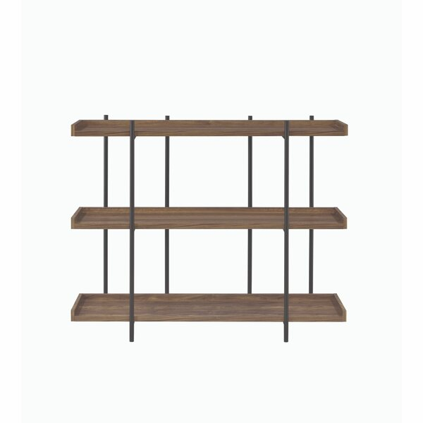 Anyan Metal Framed Standard Bookcase by 17 Stories