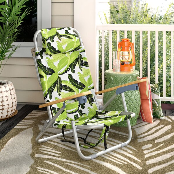 Tosca Aluminum Frame 2-in-1 Patio Sling Beach Chair By Bayou Breeze