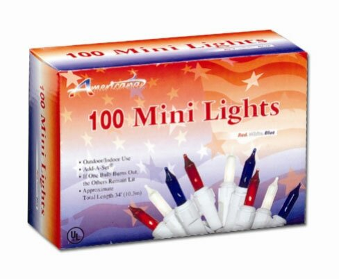 100 Light Patriotic Mini Set by Penn Distributing