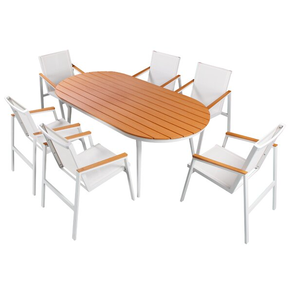 Skylar 7 Piece Sail Dining Set by Orren Ellis