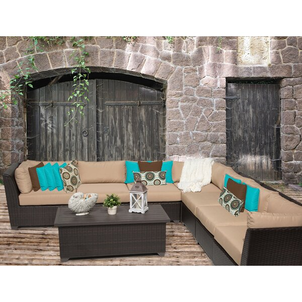 Medley 8 Piece Sectional Seating Group with Cushions by Rosecliff Heights