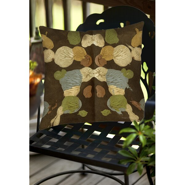 Rorschach Abstract Indoor/Outdoor Throw Pillow by Manual Woodworkers & Weavers