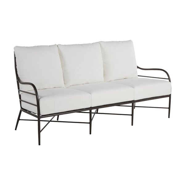 Carmel Aluminum Patio Sofa with Cushions by Summer Classics