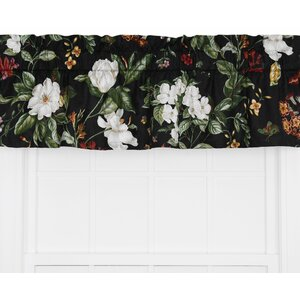 Garden Images Large Scale Floral Print Tailored Curtain Valance