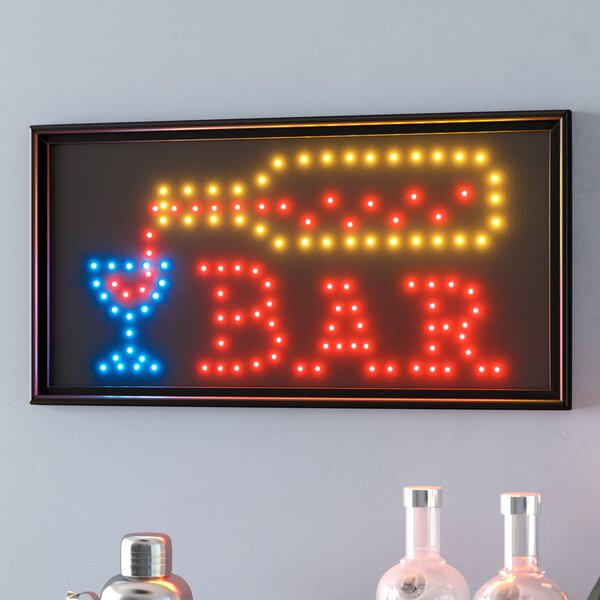 Bar LED Sign by Symple Stuff