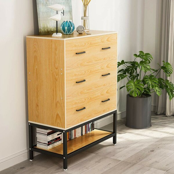 Lecroy Lateral Filing 3 Drawer Accent Chest by Ebern Designs