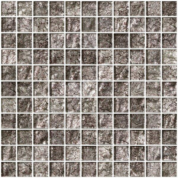 1 x 1 Glass Mosaic Tile in Platinum by Susan Jablon