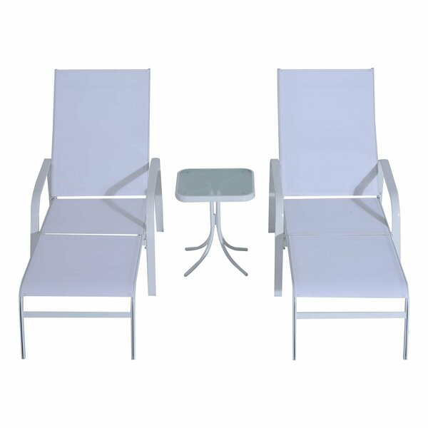 Seaman Outdoor Sun Lounger Set with Table by Ebern Designs