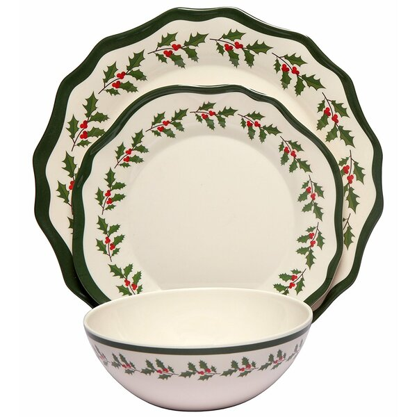 Holly 36 Piece Dinnerware Set, Service for 12 (Set of 12) by The Holiday Aisle