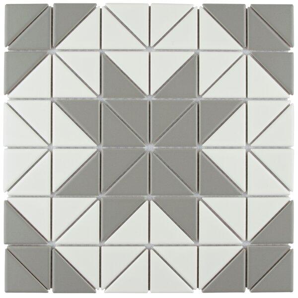 Trian Blossom 1 x 2 Porcelain Mosaic Tile