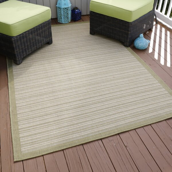 Green/Beige Indoor/Outdoor Area Rug by Plymouth Home