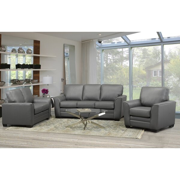 Nadin 3 Piece Living Room Set by Orren Ellis